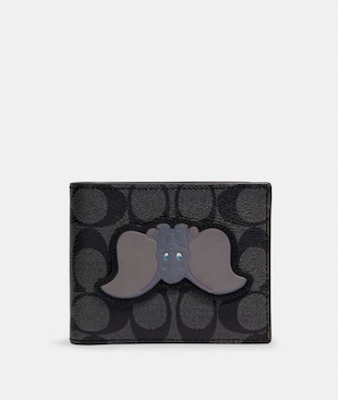 DISNEY X COACH 3-IN-1 WALLET IN SIGNATURE CANVAS WITH DUMBO