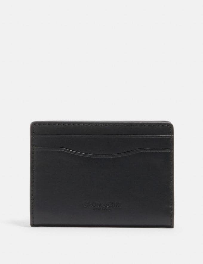Coach Magnetic Card Case Qb/Black