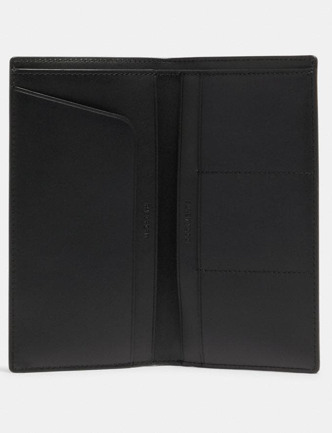 Coach Slim Passport Wallet in Signature Canvas Qb/Charcoal  Alternate View 1