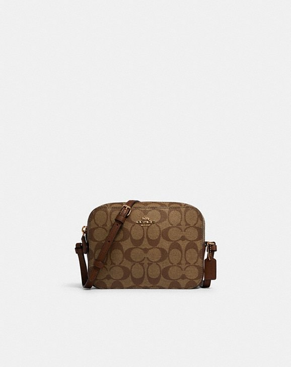 Coach MINI CAMERA BAG IN SIGNATURE CANVAS
