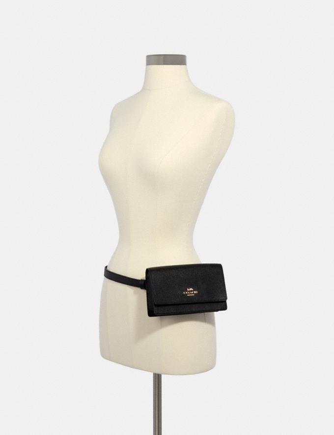 Coach Flap Belt Bag Im/Black  Alternate View 2