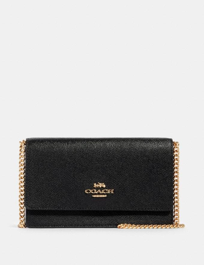 Coach Flap Belt Bag Im/Black