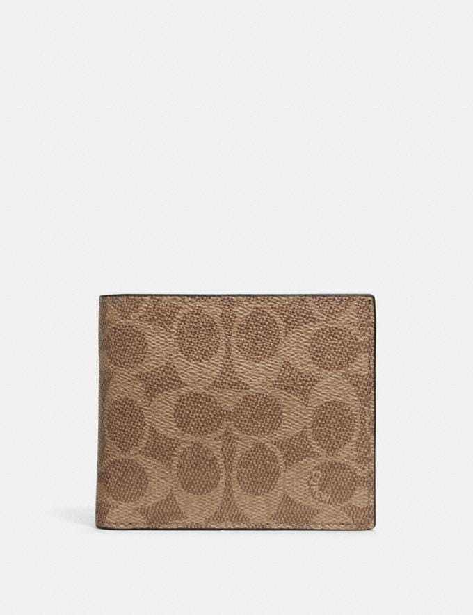 Coach 3-In-1 Wallet in Signature Canvas Khaki New Men's New Arrivals