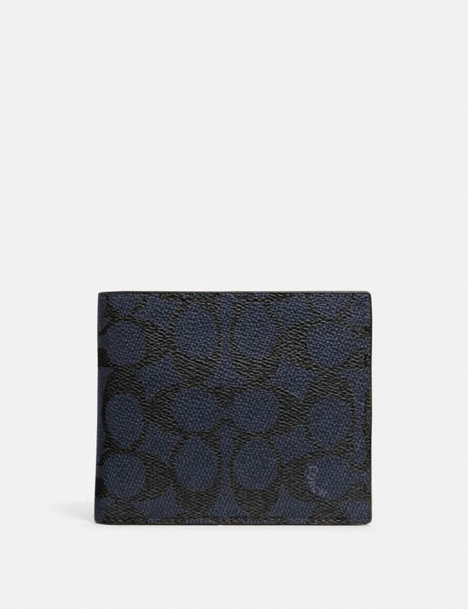 Coach 3-In-1 Wallet in Signature Canvas Midnight
