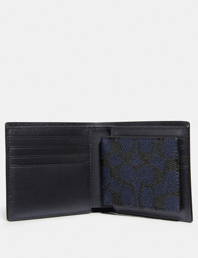 Coach 3-In-1 Wallet in Signature Canvas Midnight  Alternate View 1