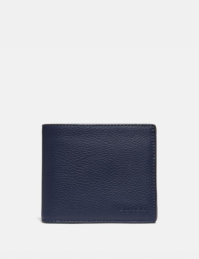 Coach 3-In-1 Wallet in Colorblock Deep Sky/True Navy Men Edits Work
