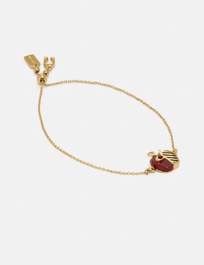 Coach Apple Slider Bracelet Gd/Red SUMMER SALE Women's Sale Jewellery and Watches