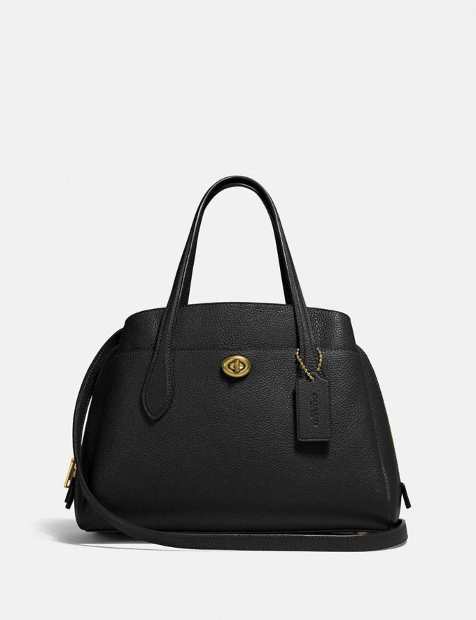 Coach Lora Carryall 30 B4/Black Women Bags Satchels