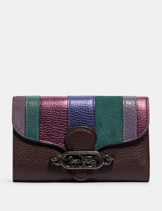 Coach Jade Medium Envelope Wallet With Piecing Qb/Oxblood Multi Explore Women Explore Women Wallets