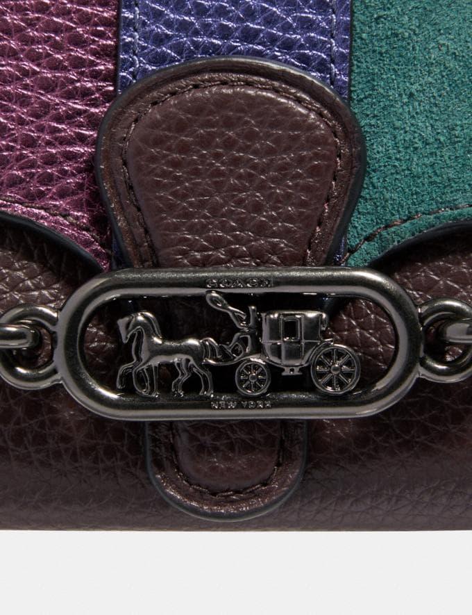 Coach Jade Medium Envelope Wallet With Piecing Qb/Oxblood Multi Explore Women Explore Women Wallets Alternate View 2