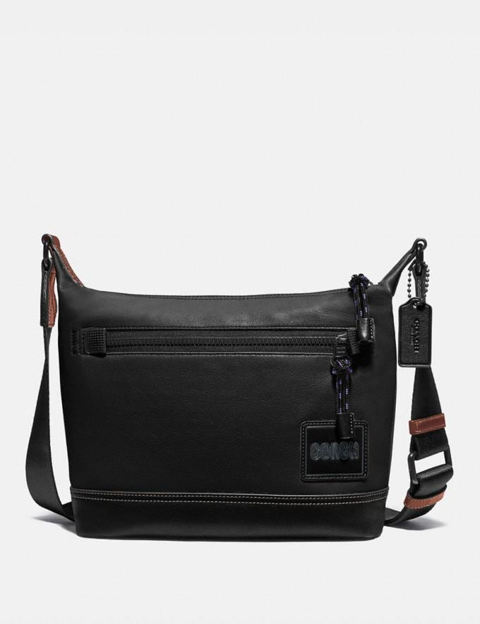 Coach Pacer Messenger 25 With Coach Patch Black Copper/Black New Men's New Arrivals Bags