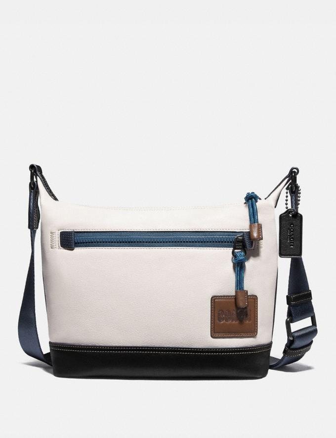 Coach Pacer Messenger 25 With Coach Patch Black Copper/Chalk Gifts For Him Under $500