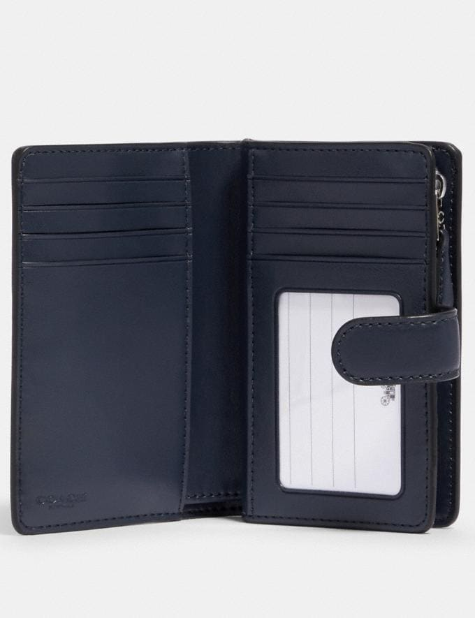 Coach Medium Corner Zip Wallet in Signature Canvas Sv/Denim Midnight  Alternate View 1