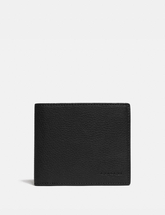 Coach 3-In-1 Wallet With Signature Canvas Detail Black/Khaki New Men's New Arrivals Wallets