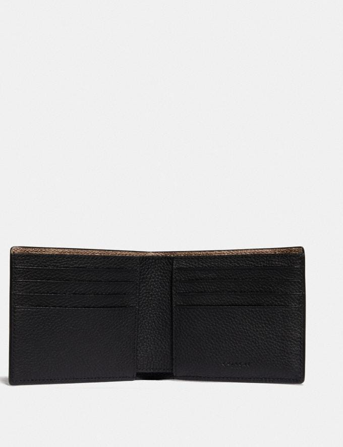 Coach 3-In-1 Wallet With Signature Canvas Detail Black/Khaki New Men's New Arrivals Wallets Alternate View 1