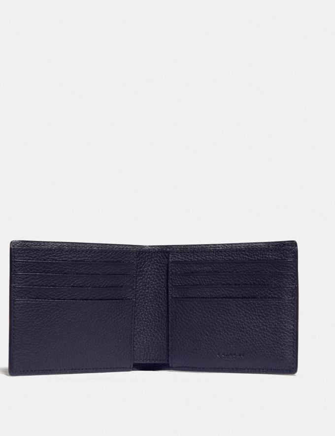 Coach 3-In-1 Wallet With Signature Canvas Detail Midnight/Charcoal Men Wallets Billfolds Alternate View 1