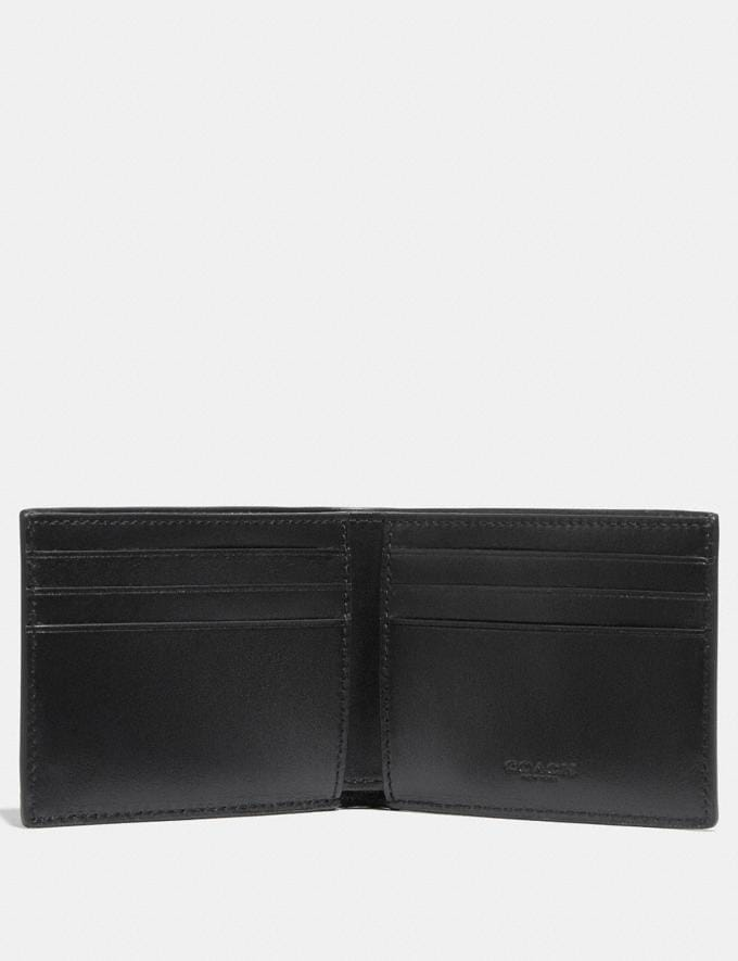 Coach Slim Billfold Wallet in Signature Canvas Charcoal/Black Men Wallets Billfolds Alternate View 1