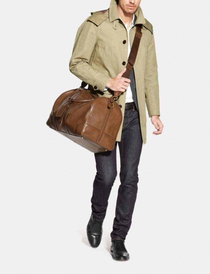 Coach Bleecker Cabin Bag in Leather Fawn/Brass Men Bags Totes & Duffles Alternate View 1