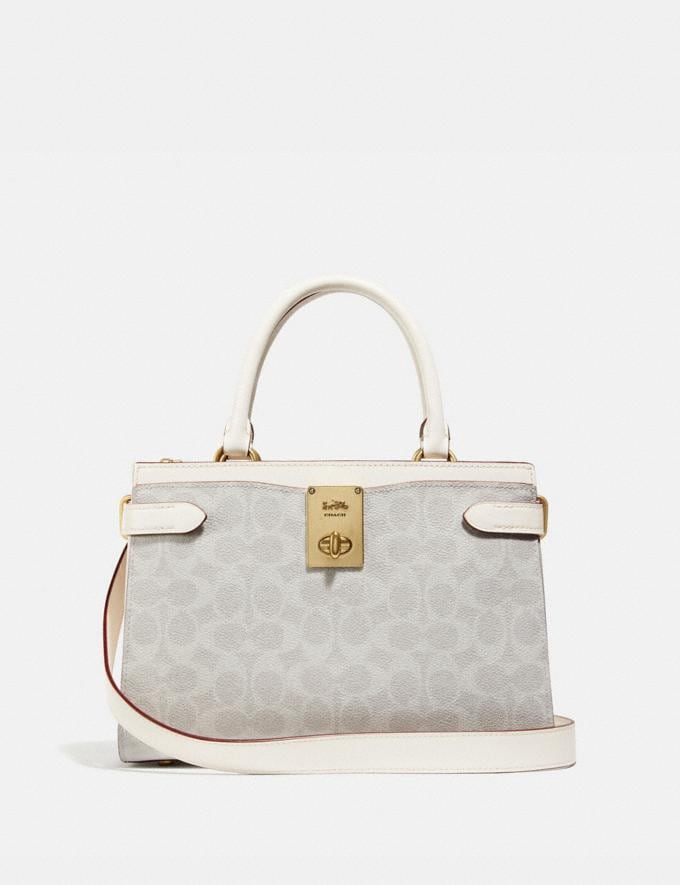 Coach Hutton Carryall in Signature Canvas B4/Chalk Chalk Cyber Monday For Her Cyber Monday Sale