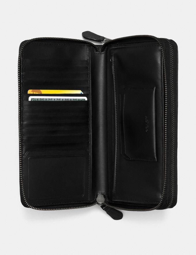 Coach Double Zip Travel Organizer in Signature Leather Midnight Men Accessories Alternate View 1