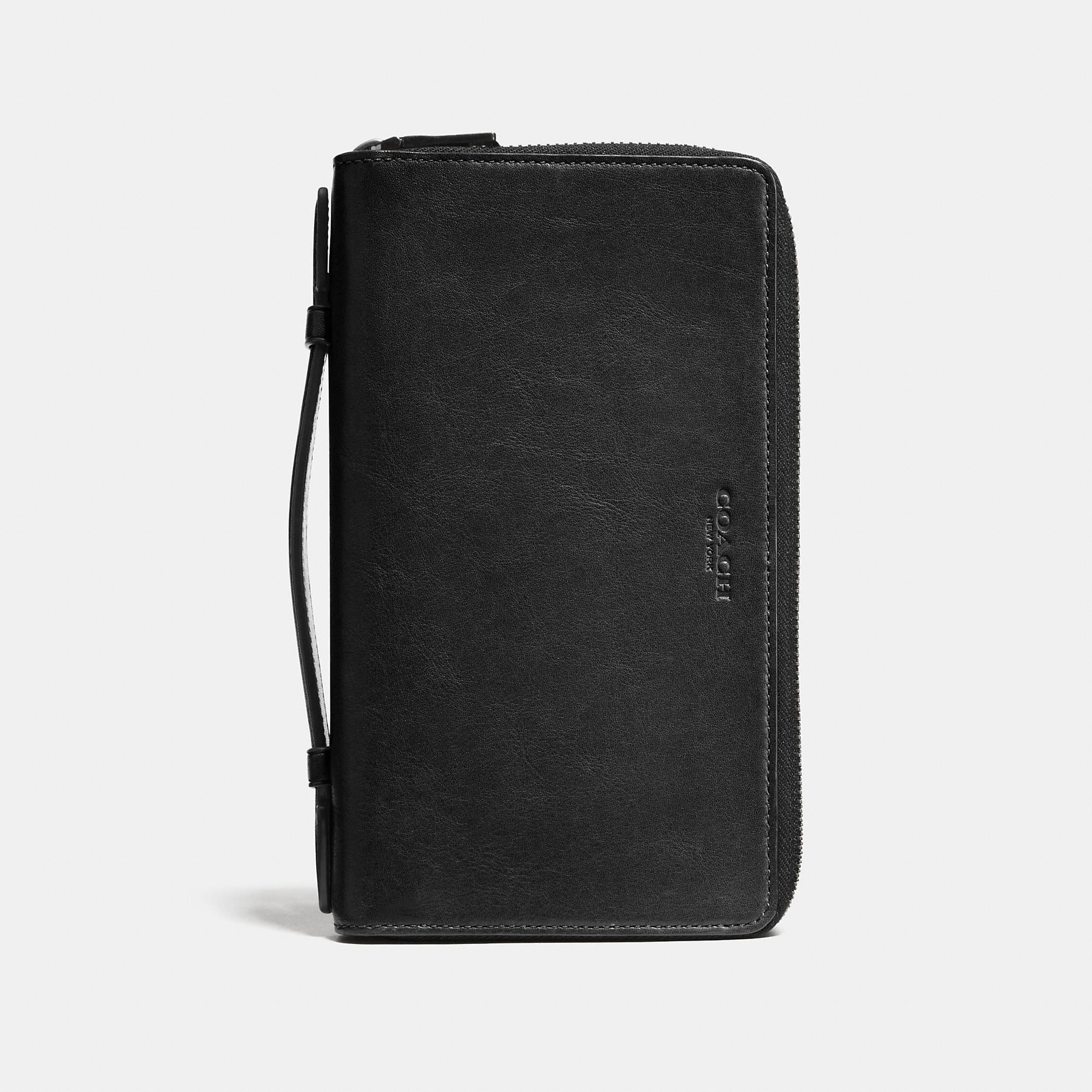Coach Double Zip Travel Organizer In Sport Calf Leather