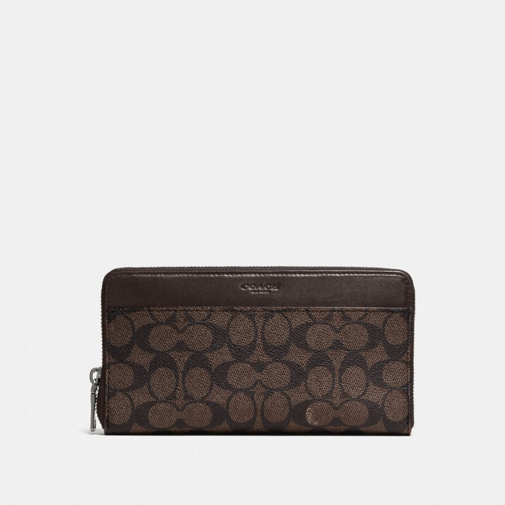 Coach Document Wallet in Signature Canvas