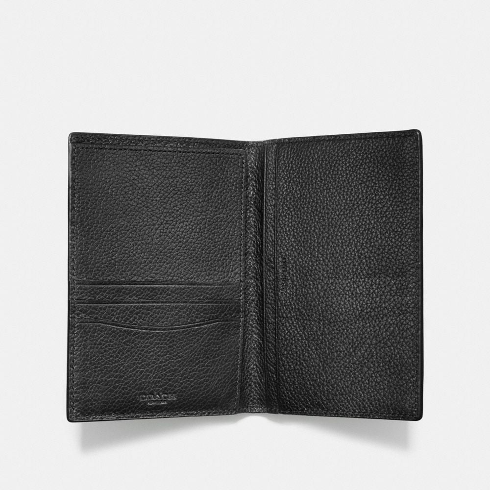 Passport Case in Refined Pebble Leather - Alternate View A1
