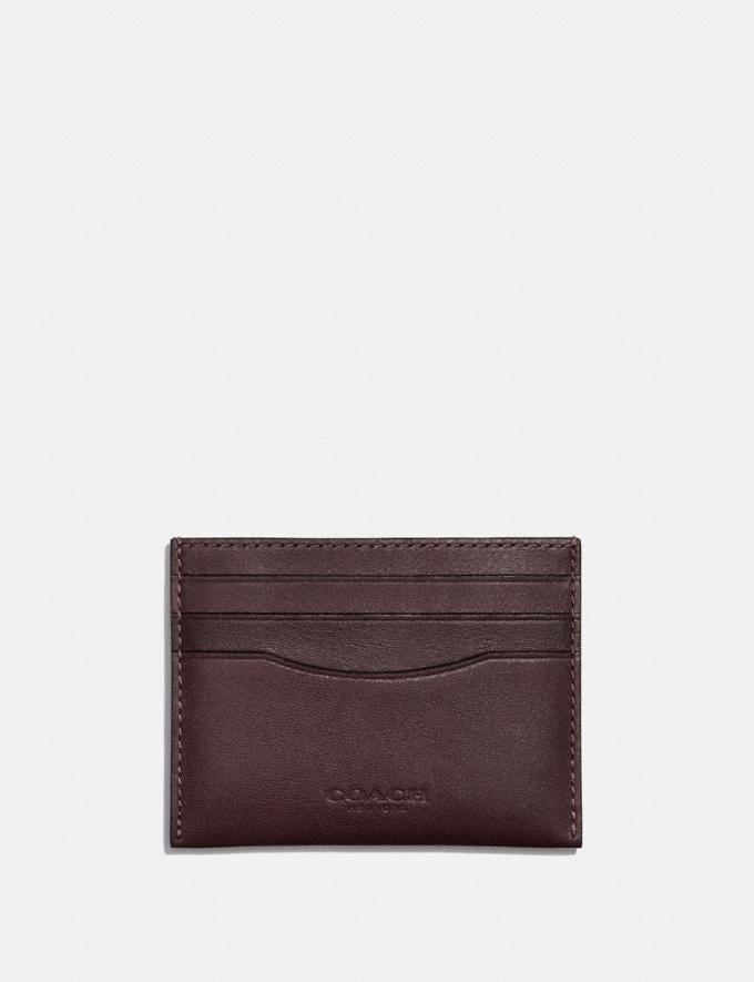 Coach Card Case Mahagony Men Wallets Card Cases