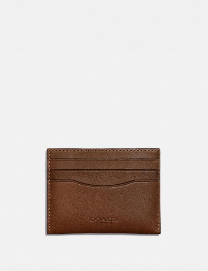 Coach Card Case Saddle