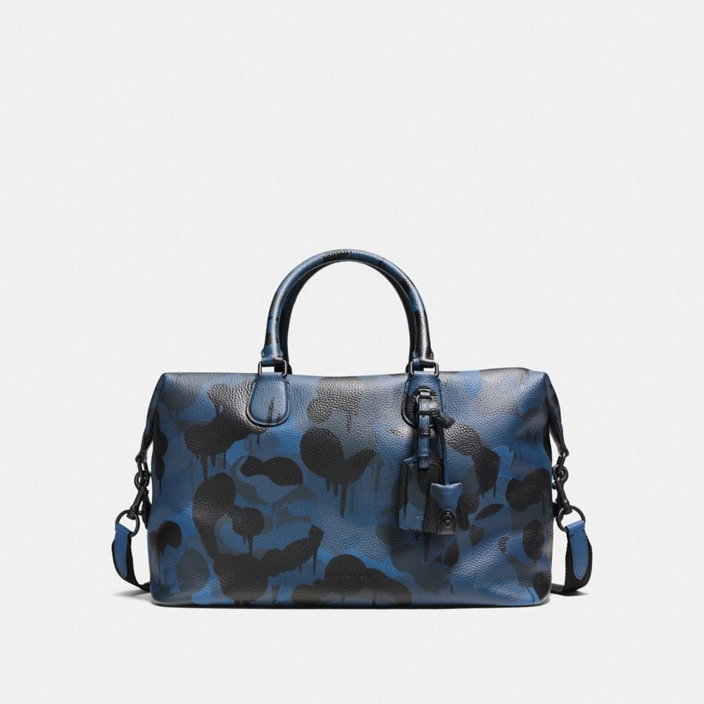 EXPLORER DUFFLE IN PRINTED PEBBLE LEATHER