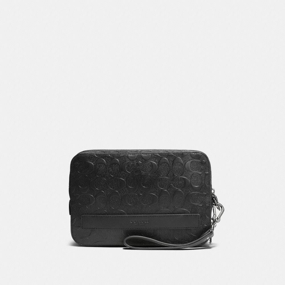 Coach Pouchette in Signature Leather