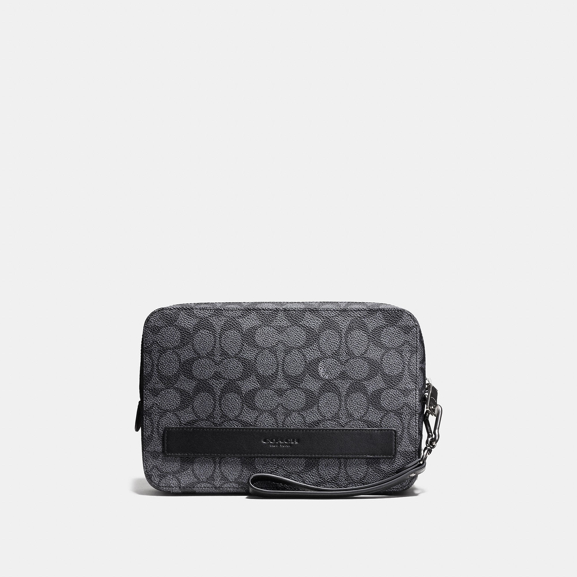 Coach Pouchette In Signature Coated Canvas