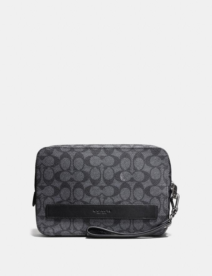 Coach Pouchette in Signature Canvas Charcoal New Featured Online-Only