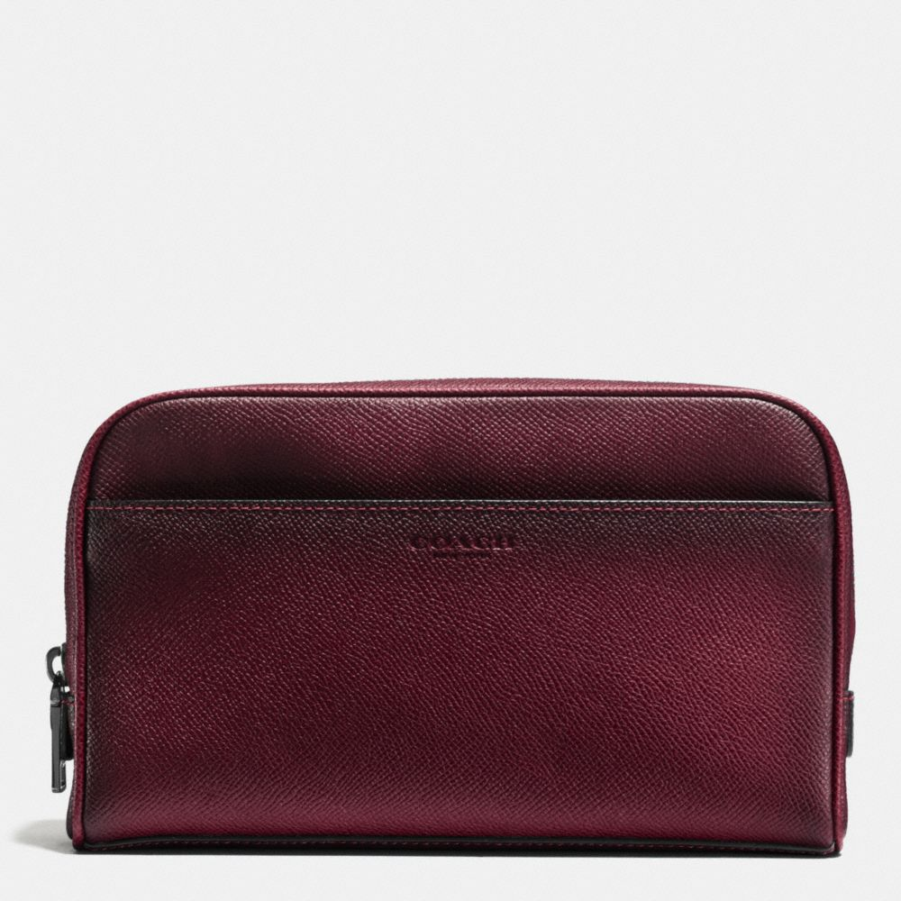 Coach Travel Kit in Burnished Crossgrain Leather