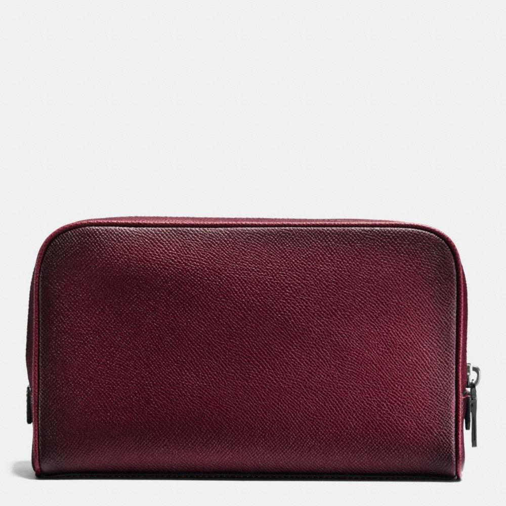 Coach Travel Kit in Burnished Crossgrain Leather Alternate View 1