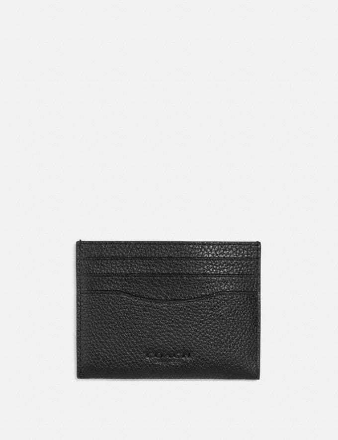 Coach Card Case With Signature Canvas Interior Black/Khaki Men Wallets Card Cases