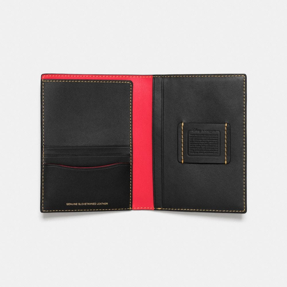 Mickey Passport Case in Glovetanned Leather - Alternate View A2