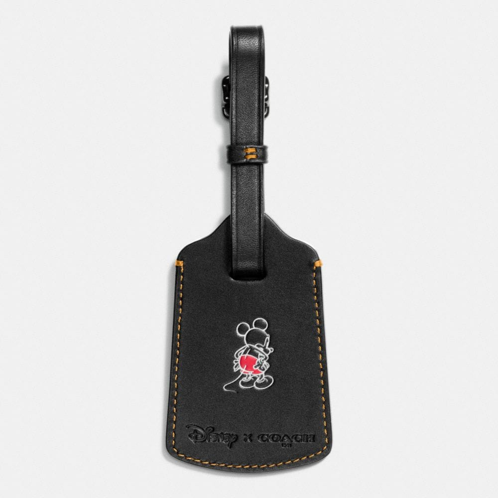 Mickey Luggage Tag in Glovetanned Leather - Alternate View A1