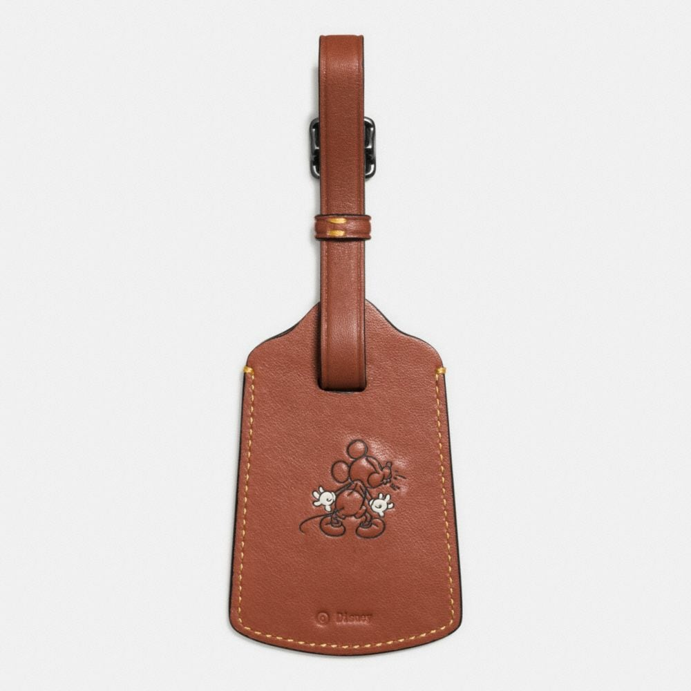 Mickey Luggage Tag in Glovetanned Leather - Autres affichages A1