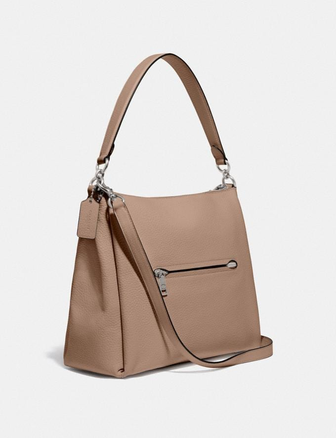 Coach Shay Shoulder Bag Silver/Taupe PRIVATE SALE For Her Bags Alternate View 1