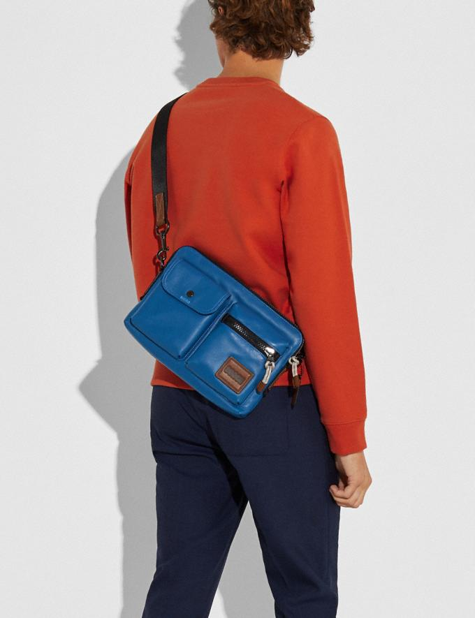Coach Pacer Modular Crossbody With Coach Patch Ji/Pacific Men Bags Messenger Bags Alternate View 3
