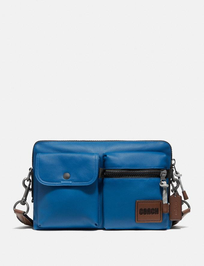 Coach Pacer Modular Crossbody With Coach Patch Ji/Pacific Men Bags Messenger Bags