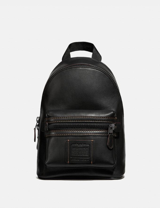 Coach Academy Pack Black Copper/Black Men Bags Backpacks