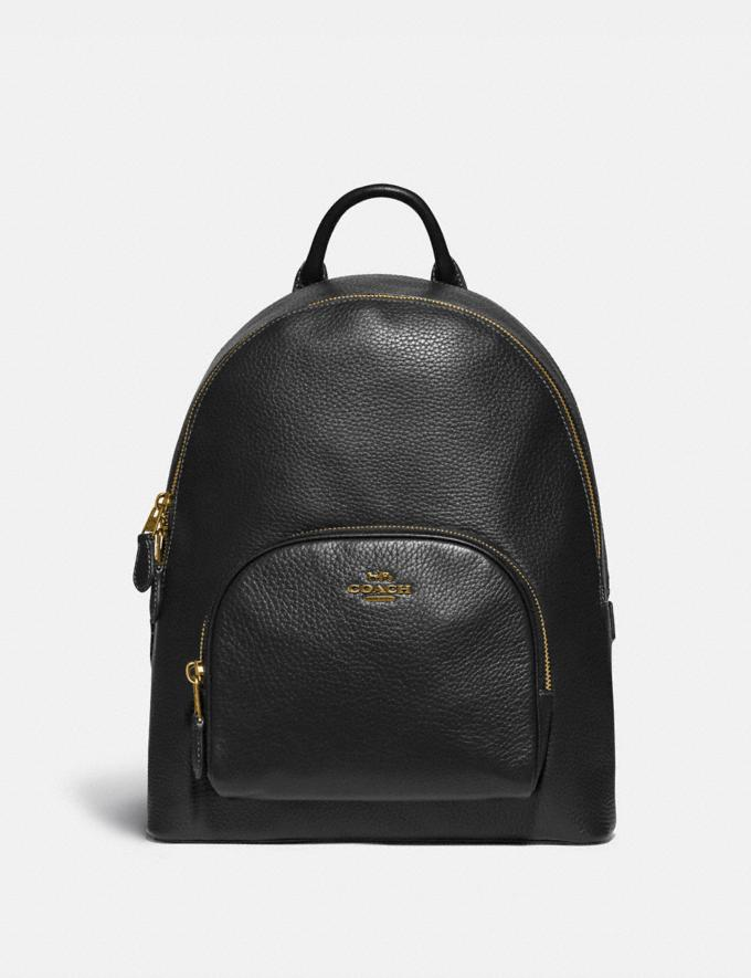 Coach Carrie Backpack Brass/Black Women Bags Backpacks