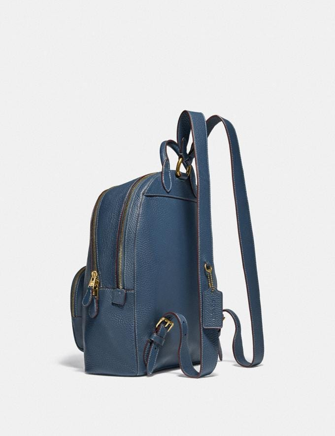 Coach Carrie Backpack Brass/Dark Denim Women Handbags Backpacks Alternate View 1