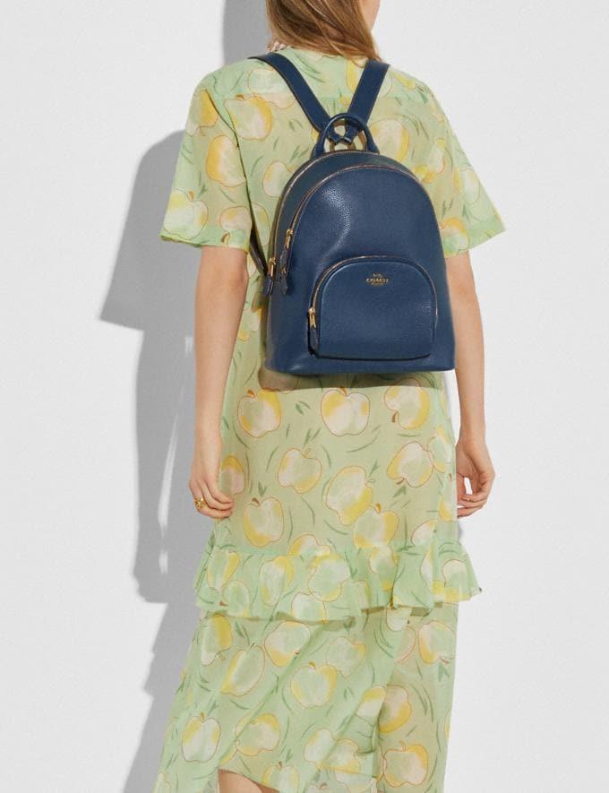 Coach Carrie Backpack Brass/Dark Denim Women Handbags Backpacks Alternate View 4