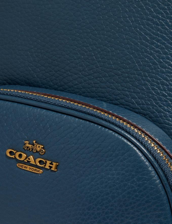 Coach Carrie Backpack Brass/Dark Denim Women Handbags Backpacks Alternate View 5