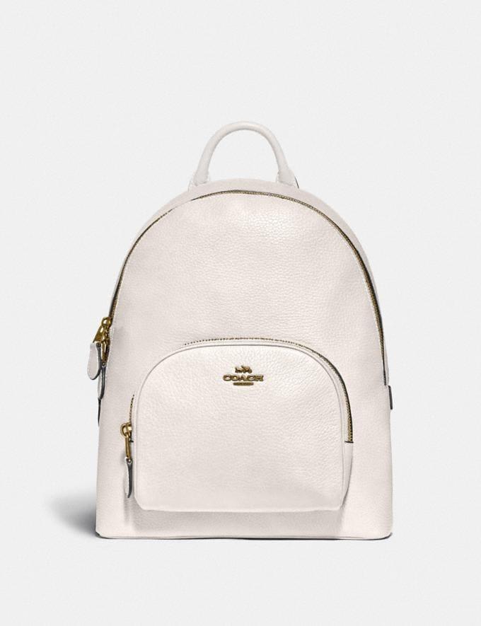 Coach Carrie Backpack Brass/Black Women Bags Backpacks