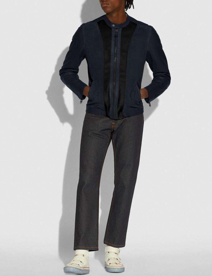 Coach Racer Jacket Navy Multi New Men's New Arrivals Ready-to-Wear Alternate View 1