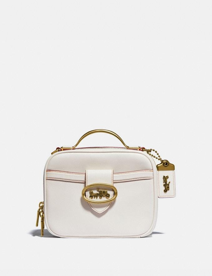 Coach Riley Lunchbox Bag Brass/Chalk New Women's New Arrivals View All